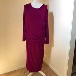 NWT! Rachel Rachel Roy 3X violet midi dress